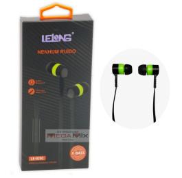 Fone de Ouvido com Microfone LE-0201 - Lelong