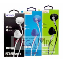 Fone de Ouvido com Microfone LE-0217 - Lelong