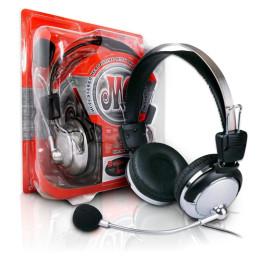 Fone De Ouvido c/Microfone Prata F-301 MV - Plug-X