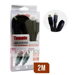 Cabo HDMI + HDMI 4K 2M MHD-4002 - Tomate