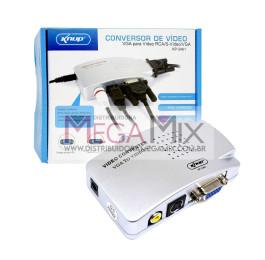 Adaptador Conversor VGA (PC) para RCA (AV) KP-3461