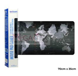 Mouse Pad Gamer 70x35cm (Mapa do Mundo) 7035C-28 - Exbom