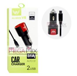 Carregador Veicular (V8) com 2 Portas USB  3.1A AL-5022 - Altomex
