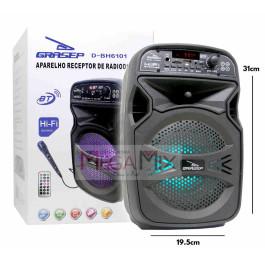 Caixa de Som Bluetooth 15W D-BH6101 - Grasep