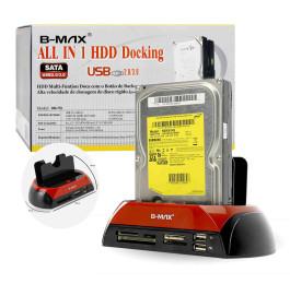 """Dock Station para HD Sata e Ide 3.5""""/2.5"""" USB 2.0/3.0 BM-753 Bmax"""
