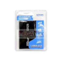 """Case USB 2.0 para HD Sata de 2,5"""" em Alumínio CGHD-10 - Exbom"""