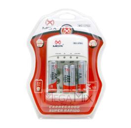 Carregador de Pilha c/2 Pilhas AA + 2 AAA 1000 mAh MO-CP53 - Mox