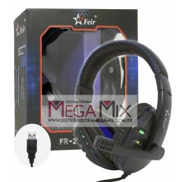 Fone de Ouvido Headset Gamer USB FR-215