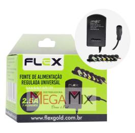 Fonte de Alimentação Universal 2.5A 7 Plugues FX-FU4 - Flex