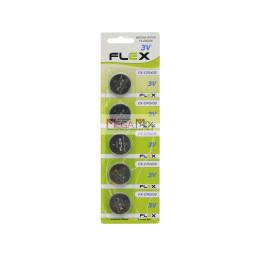 Bateria Lithium 3v CR2430 - Cartela 5 Unidades FX-2430 - Flex