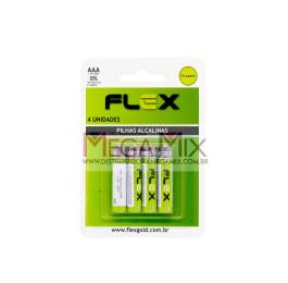 Pilha Alcalina AAA c/4 FX-AAAK4 - Flex