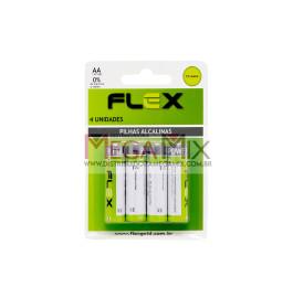 Pilha Alcalina AA c/4 FX-AAK4 - Flex