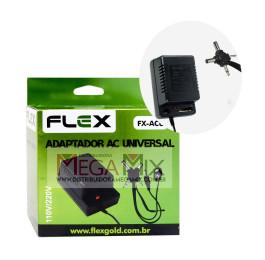 Fonte de Alimentação Universal 1.5V à 12V 1000mAh Bivolt FX-ACU - Flex