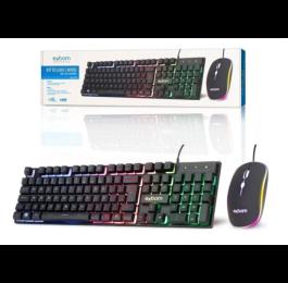 Kit Teclado e Mouse c/Fio Gamer USB e Led Colorido BK-G550 - Exbom