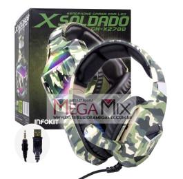 Fone de Ouvido Headset Gamer X Soldado (P3) GH-X2700 - Infokit