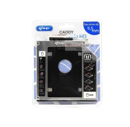 Case Sata Hd 2.5 9.5mm Caddy Dvd para Segundo HD ou SSD KP-HD010 - Knup