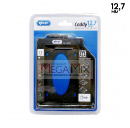 Suporte Caddy 12,7mm para case HD/SSD 2.5' KP-HD022 - Knup