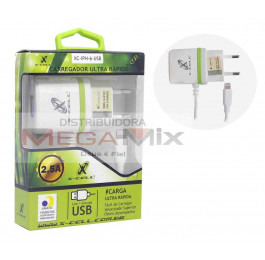 Carregador de Celular - Iphone 5/6/7/8 5V 2.5A XC-IPH-6-USB - X-cell