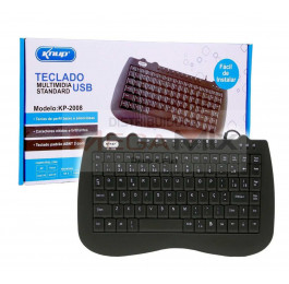Mini Teclado Multimídia USB KP-2008 - Knup