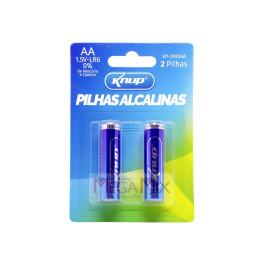 Pilha Alcalina AA c/2 KP-2900AA - Knup