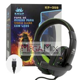 Fone de Ouvido Headset Gamer USB KP-359 - Knup