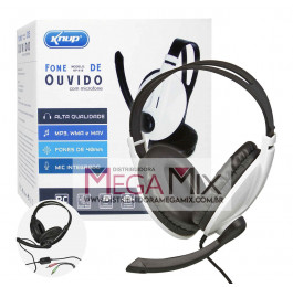 Fone de Ouvido - Headset c/Microfone KP-418 - Knup