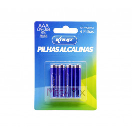 Pilha Alcalina AAA c/4 KP-4900AAA - Knup
