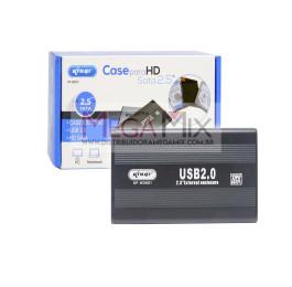 Case para HD Sata 2.5'' USB 2.0 Externo KP-HD001 - Knup
