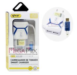 Carregador de Celular - Micro USB com 2 USB 3.1A KP-IC015 - Knup