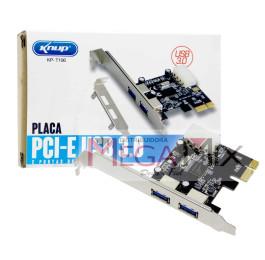 Placa PCI-E com 2 Portas USB 3.0 KP-T106 - Knup