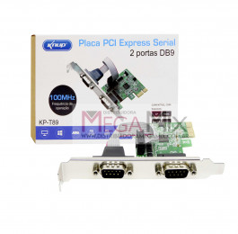 Placa PCI express serial 2 portas DB9 KP-T89 - Knup