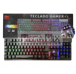 Teclado Gamer Semi-Mecânico RGB KP-TM009 - Knup
