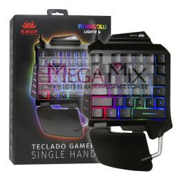 Teclado Gamer Single Hand (Uma mão) KP- TM006 - Knup