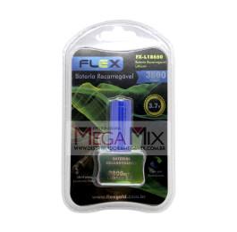 Bateria Recarregável Lanterna Tática 3.7V 3800mah FX-L18650 - Flex