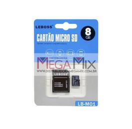 Cartão de Memória 8GB + Leitor de Cartão LB-M01 - Leboss