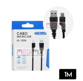 Cabo de Dados USB + Micro USB (V8) 1M LE-1024 - It-Blue