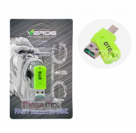 Conector OTG V8 LE-14 - Verde