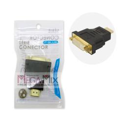 Adaptador DVI Fêmea (24+1) para HDMI Macho LE-5511 - Lelong