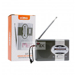 Mini Rádio Portátil AM/FM/SW LE-651 - Lelong