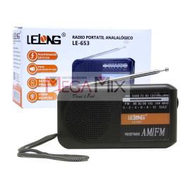Rádio Portátil Analógico FM/AMLE-653 - Lelong