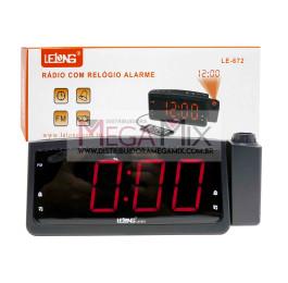 Rádio Relógio com Alarme LE-672 - Lelong