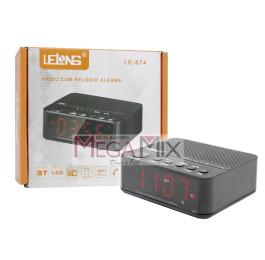 Rádio Relógio com Alarme LE-674 - Lelong