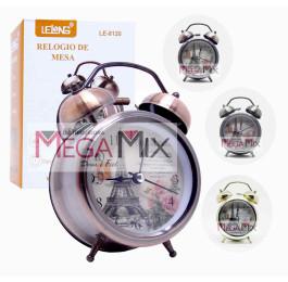 Relógio Despertador de Mesa Paris LE-8120 - Lelong