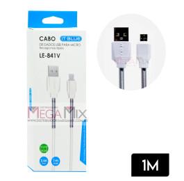 Cabo de Dados USB + Micro USB (V8) 1M 2.4A LE-841V - It-Blue