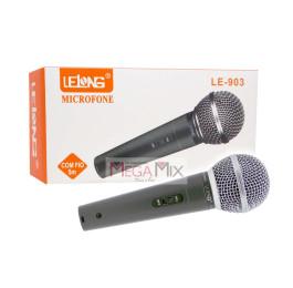 Microfone com Fio 5M  LE-903 - Lelong