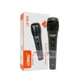 Microfone Dinâmico com fio LE-905 - Lelong