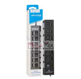 Hub USB 2.0 7 Portas USB 480Mbps LEY-02 - Lehmox