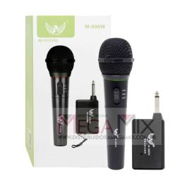Microfone Profissional sem Fio Preto M-996W - Altomex
