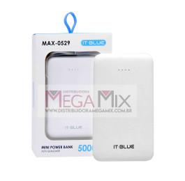 Carregador Portátil Powerbank 5000MAH MAX-0529 - It-Blue