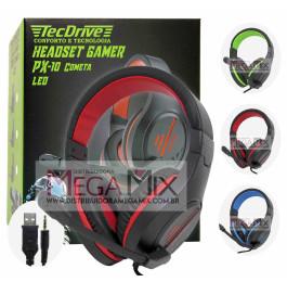 Fone de Ouvido Headset Gamer (P2 + USB) PX-10    - TecDrive
